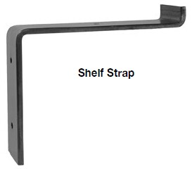 Shelf strap bracket