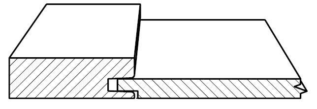 TW-1038 Flat Panel Style Door