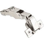 165º soft-close hinge for pie corner door applications