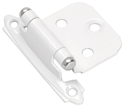 Face frame hinge for overlay mount - White with Chrome