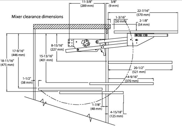 Appliance or Mixer Lift - Soft Close [RSRAS.ML.HDSC.24] - $249.99 ...