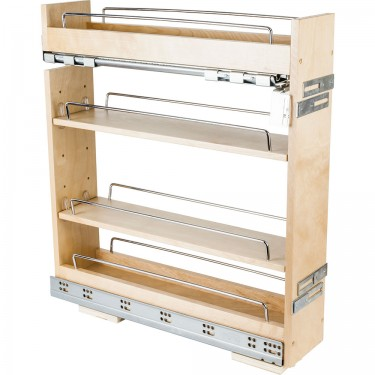 "5"" wide base cabinet pullout with premium soft-close slides."