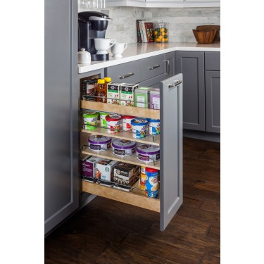 base cabinet pullout with premium soft-close slides.