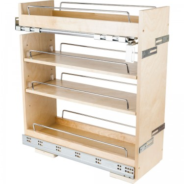 "8"" Base pullout with soft-close concealed undermount slides"