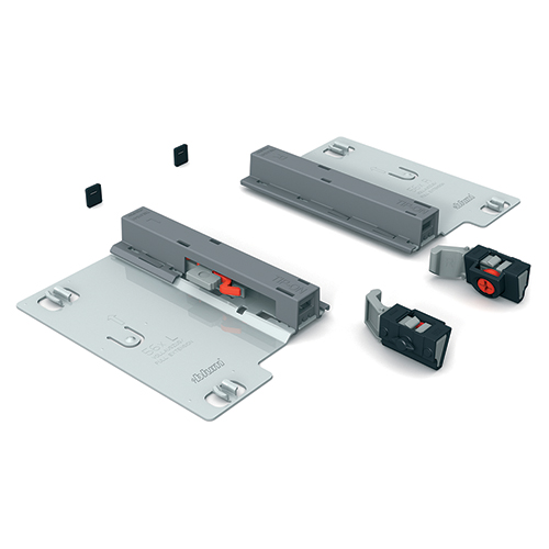 Tip-on attachment for Blum 562H slides allows for touch opening
