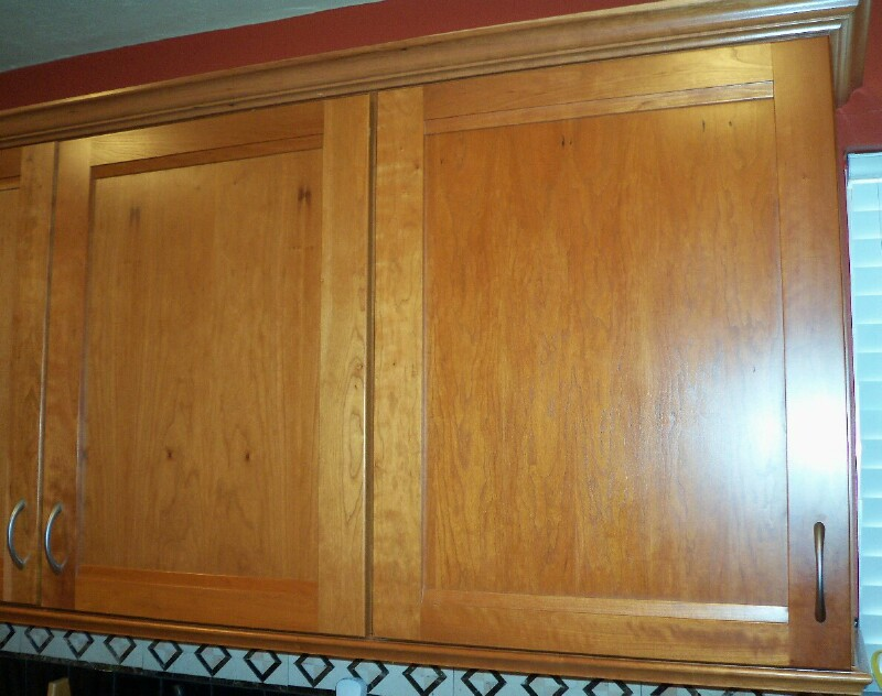 Choose a cabinet door to measure for hinge overlay