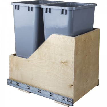 Bottom Mount Waste System - Double 35 QT