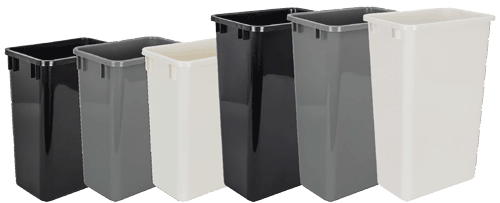 Four colors of waste cans available