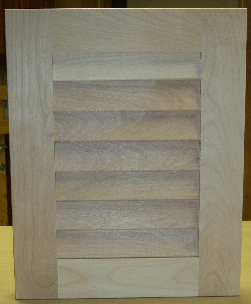 Custom Wood Solid Louver Cabinet Door