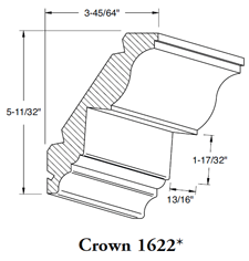 Crown Mould 1622