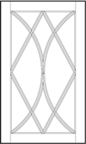 Conestoga Double Bow Diamond Mullion Door