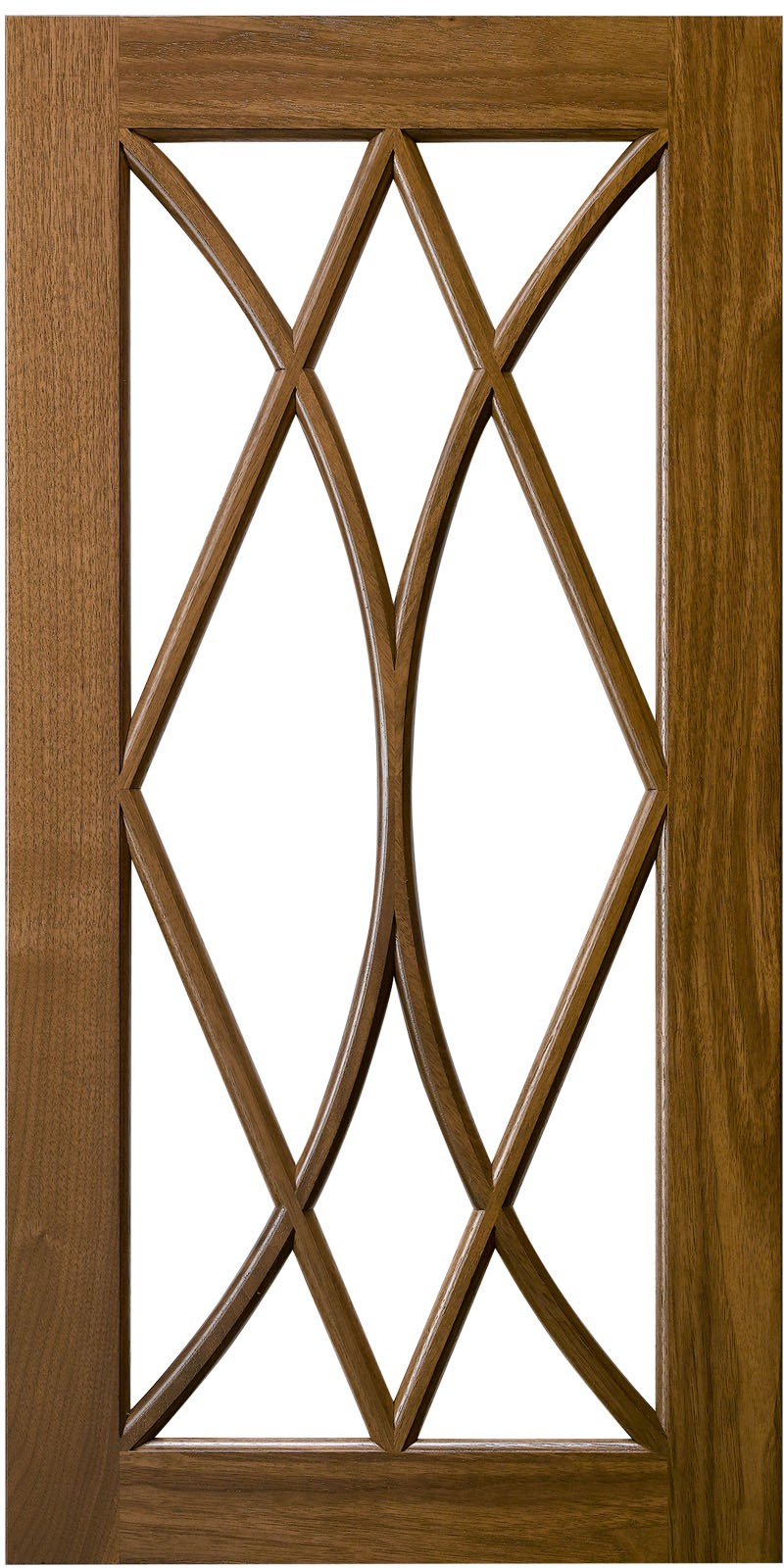 Double Bow Diamond Mullion Door