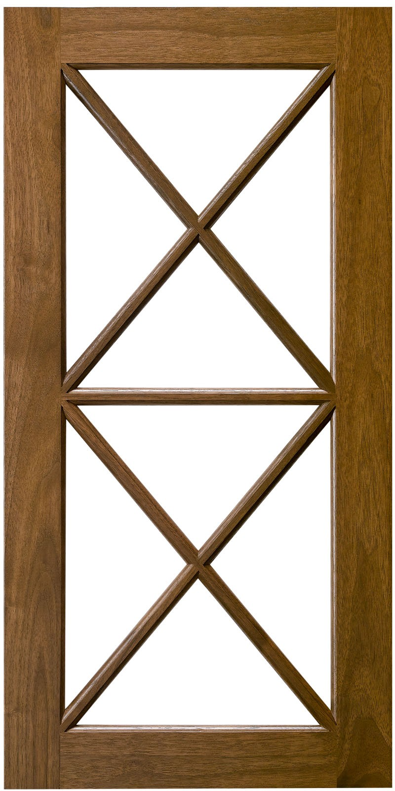 Double X Horizontal Mullion Cabinet Door