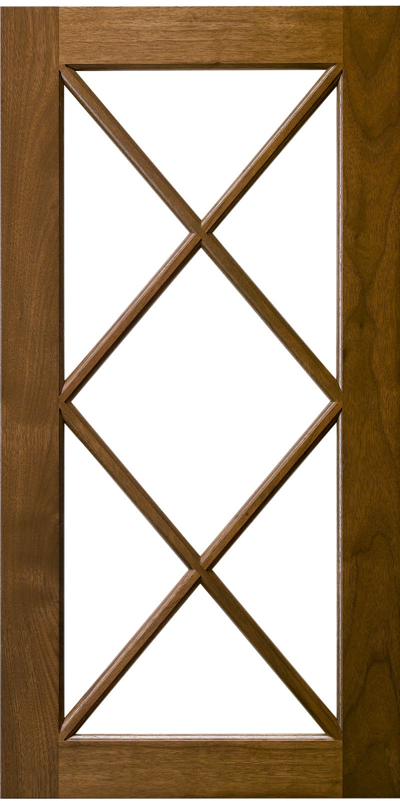 Double X Mullion Cabinet Door