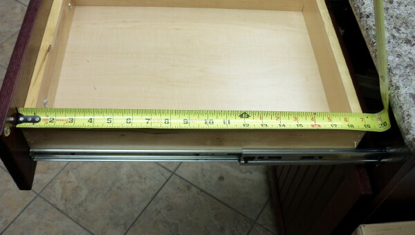 How To Measure existing drawer depth