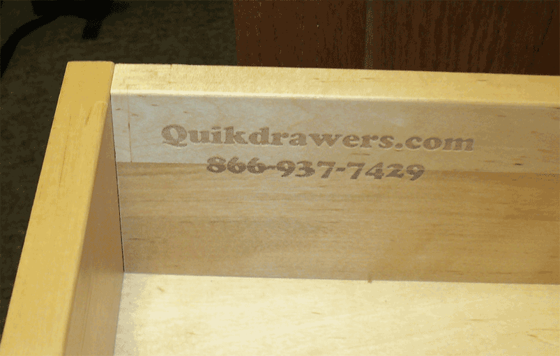 "5/8"" Solid Birch Wood Rollout Shelf With Logo"