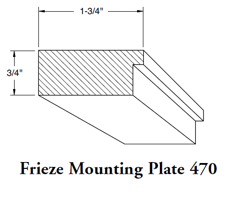 Frieze Mounting Plate 470