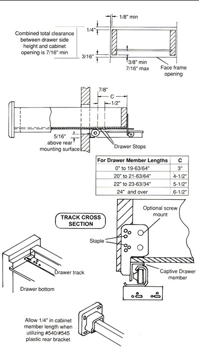 Installation Guide for GO-EZ drawer slide