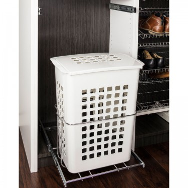 Pullout laundry hamper system