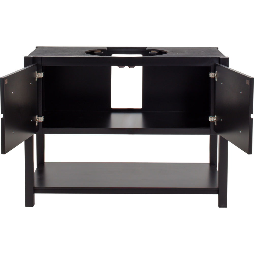 "48"" Adler vanity in Black without top"
