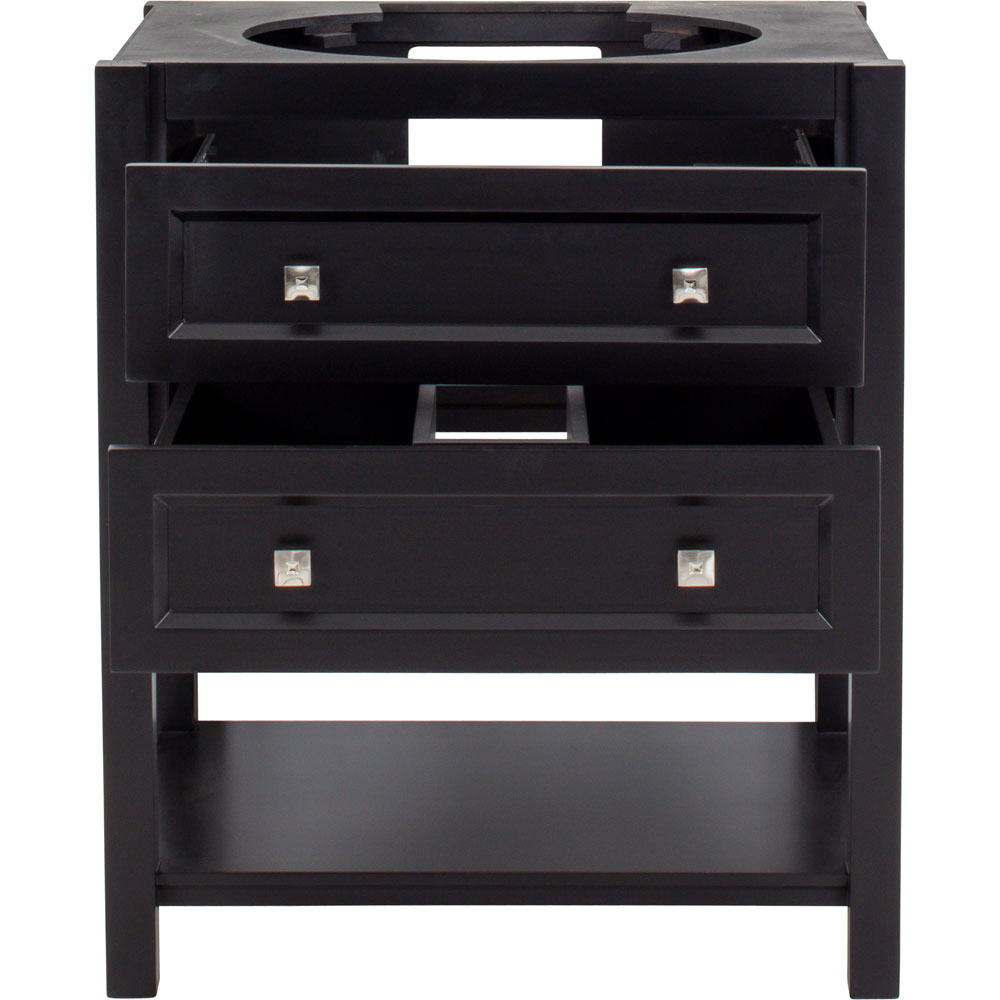 "31"" Adler vanity in Black without top"