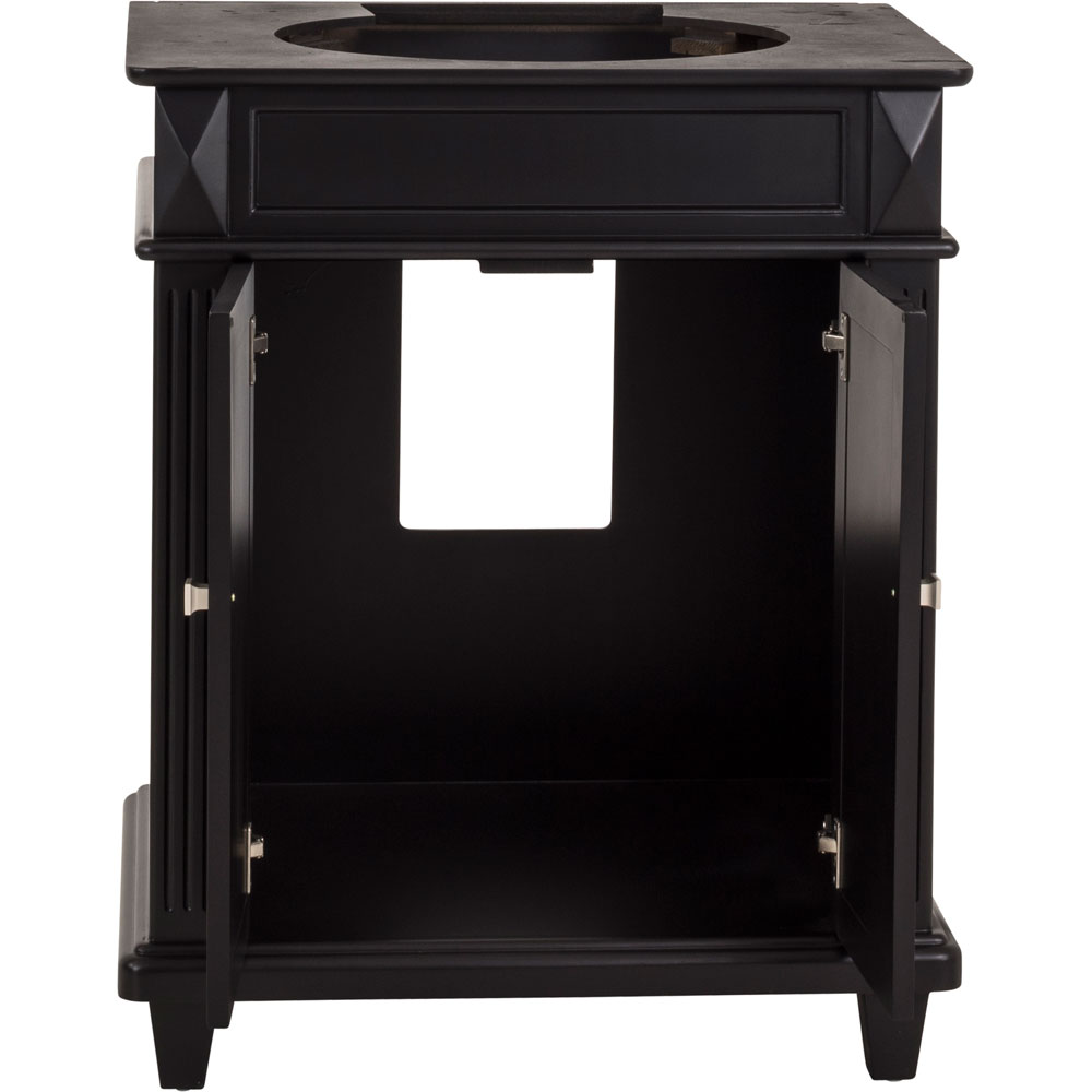 "30"" Douglas vanity in Black without top"
