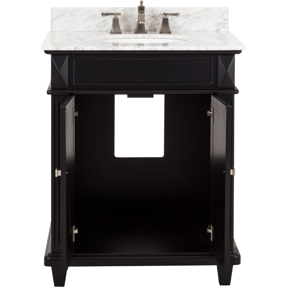 "30"" Douglas vanity in Black with top"