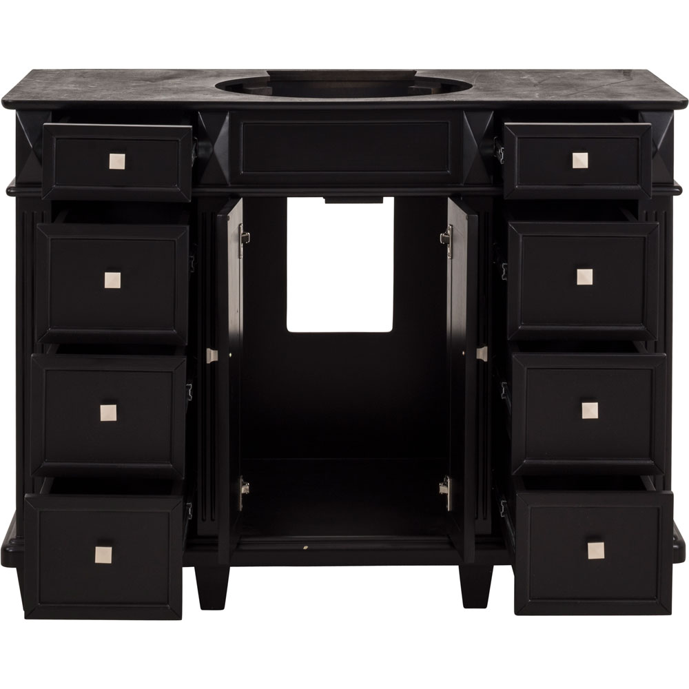 "48"" Douglas vanity in Black without top"