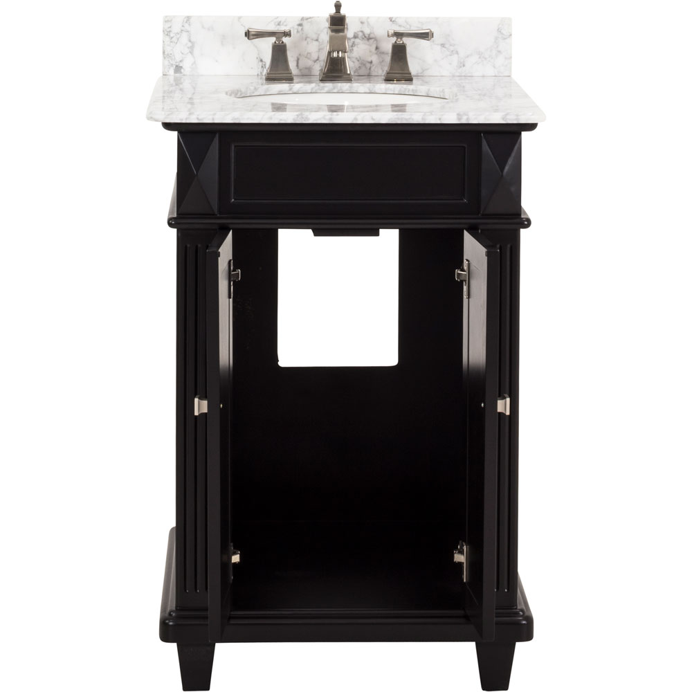 "24"" Douglas vanity in Black with top"