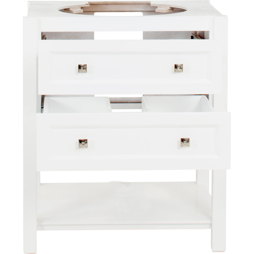 "31"" Adler vanity in White without top"