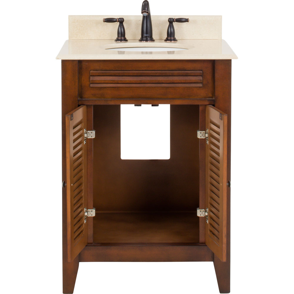 "26-1/2"" Lindley Vanity with Carrera Marble top"