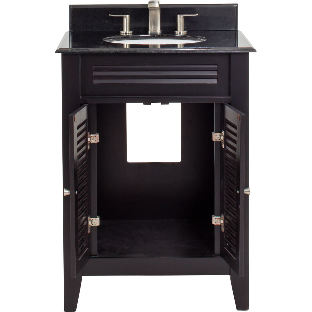 "26-1/2"" Espresso Lindley Vanity with granite top"