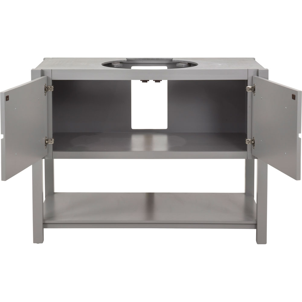 "48"" Adler vanity in Grey without top"