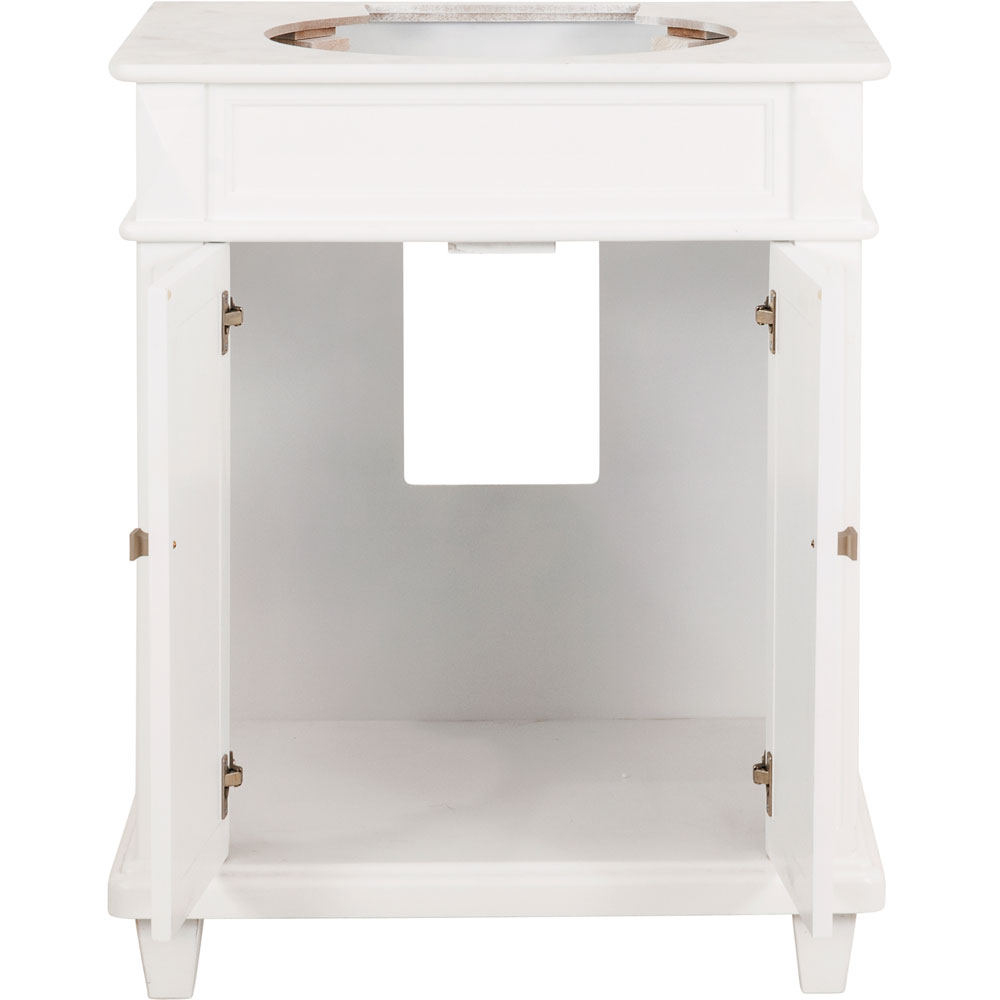 "30"" Douglas vanity in White without top"