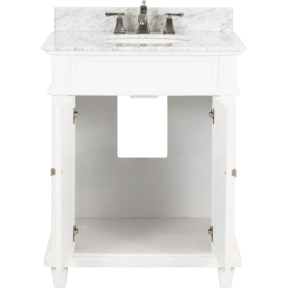 "30"" Douglas vanity in White with top"