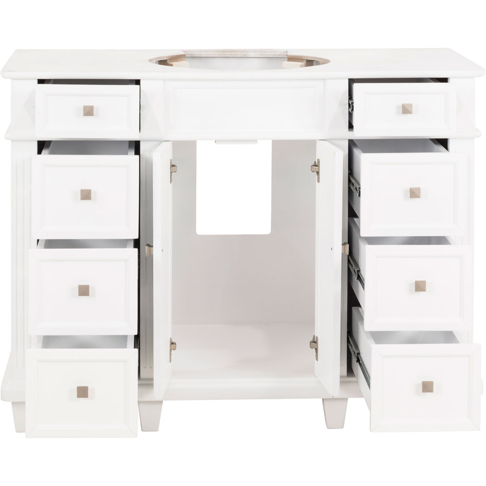 "48"" Douglas vanity in White without top"