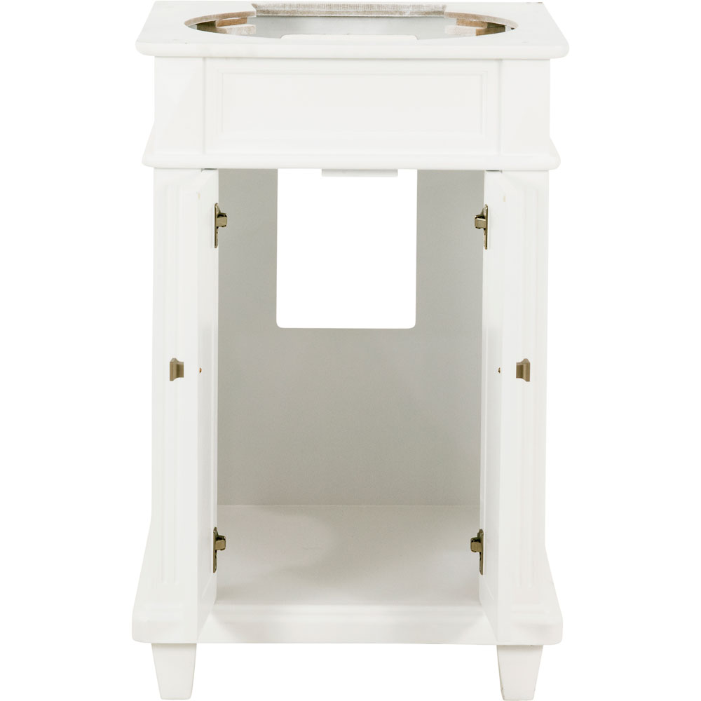 "24"" Douglas vanity in White without top"