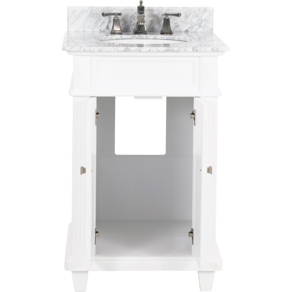 "24"" Douglas vanity in White with top"