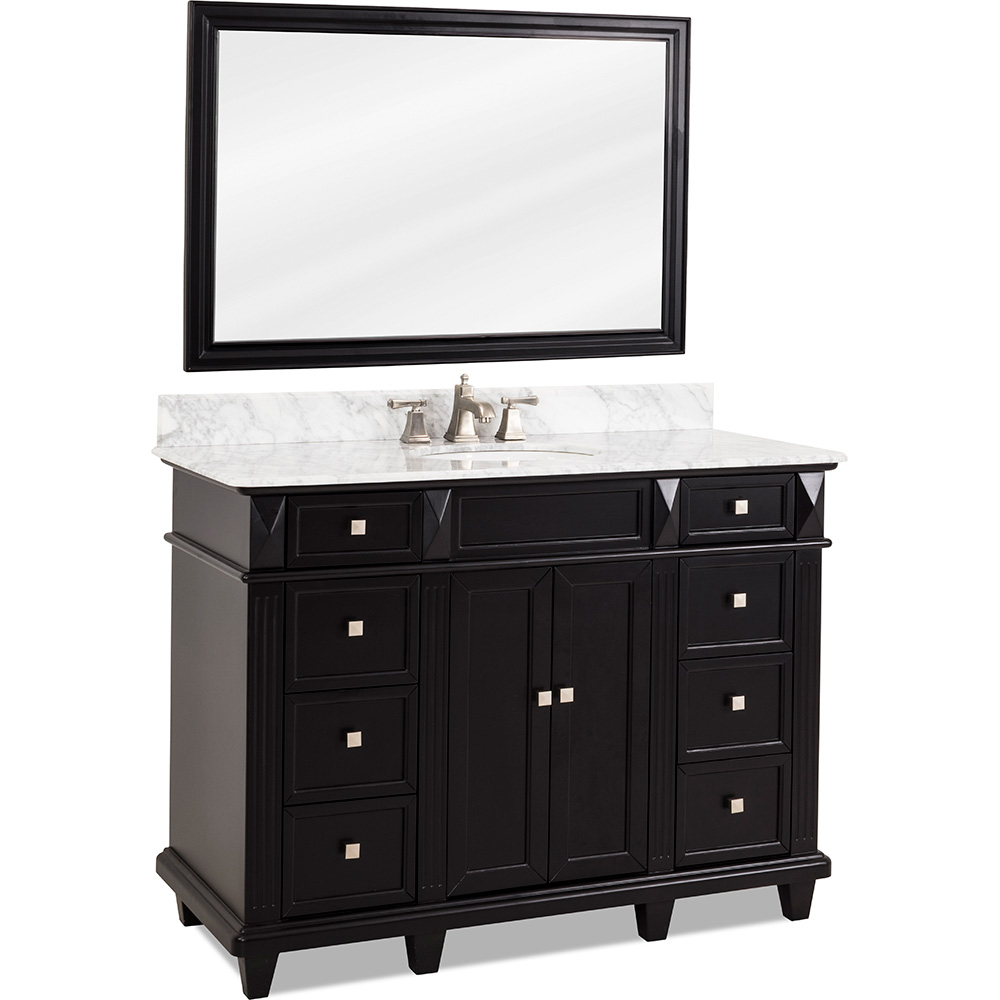 "48"" Douglas vanity in Black finish"