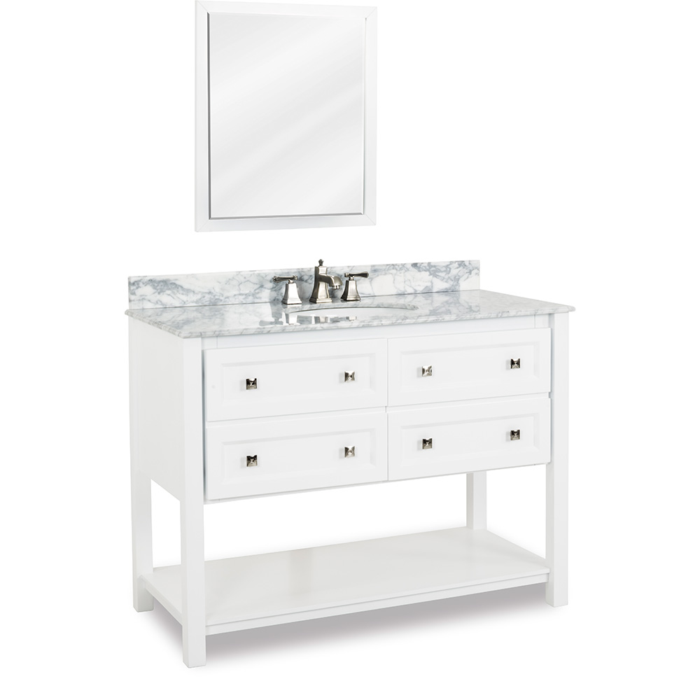"48"" Adler vanity in White"