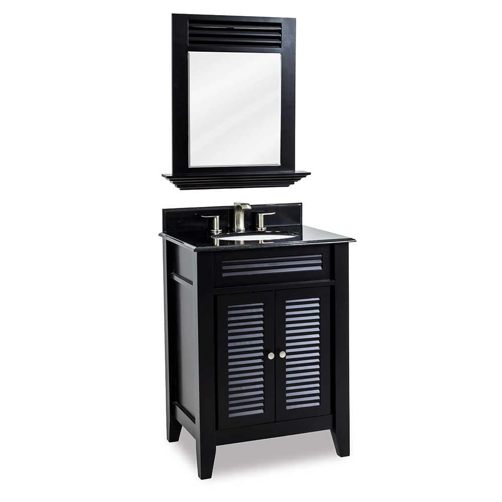 "26-1/2"" Lindley Vanity in Espresso with Black Granite"