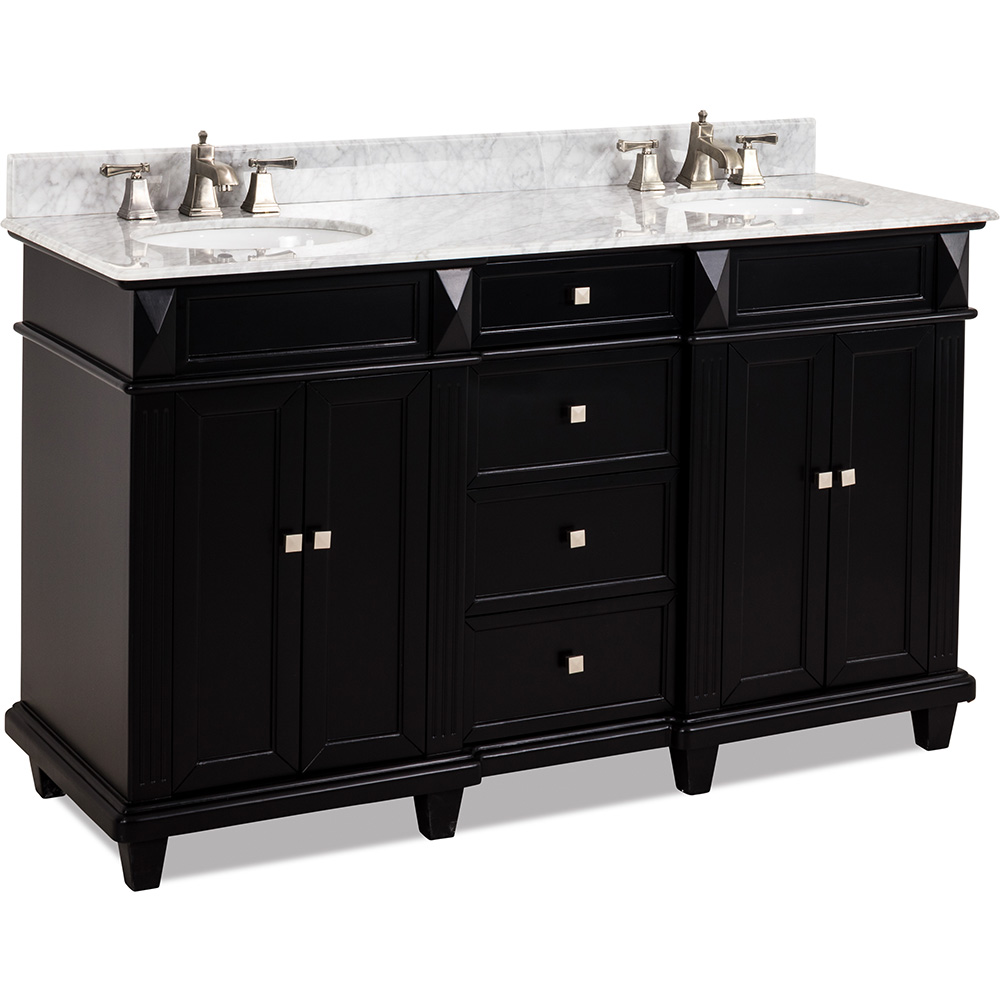 "60"" Douglas vanity in Black finish"