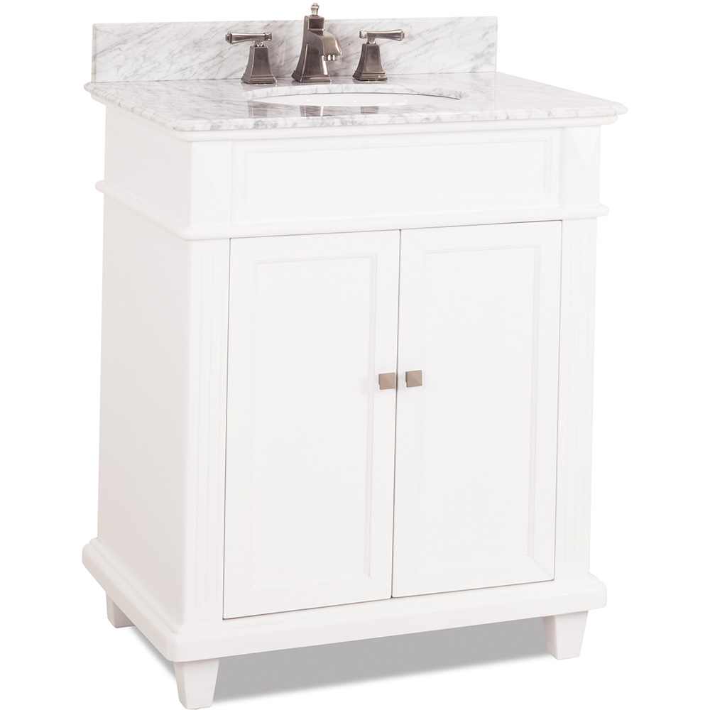 "30"" Douglas vanity in White finish"