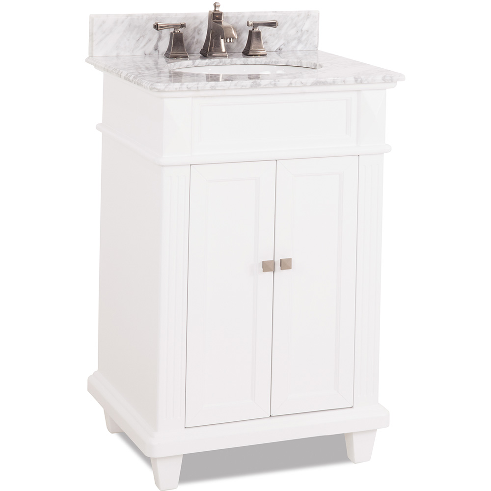 "24"" Douglas vanity in White finish"