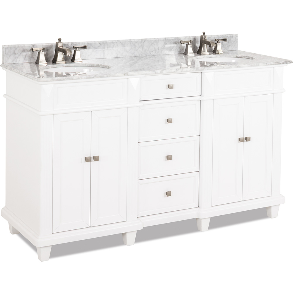 "60"" Douglas vanity in White finish"