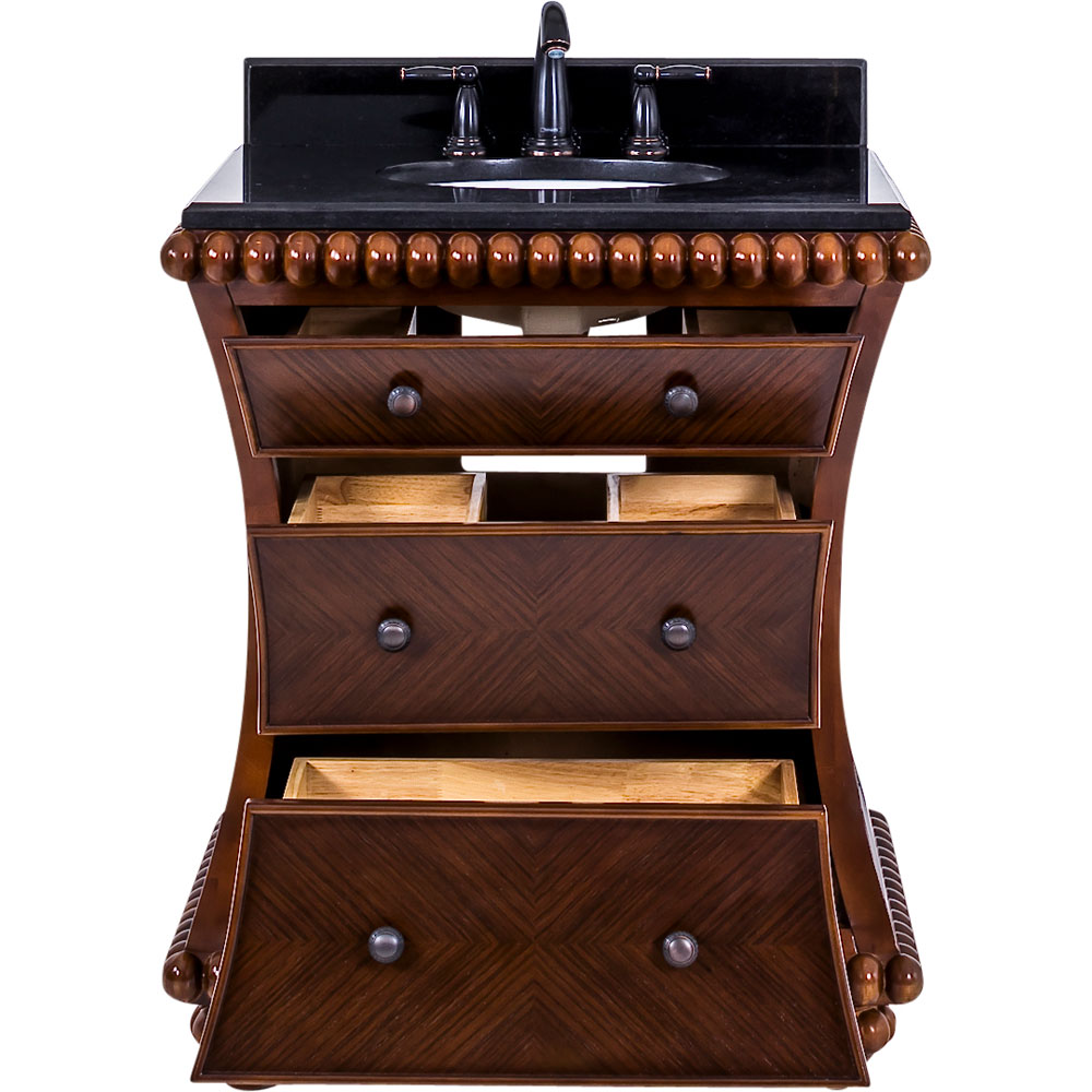 "30"" Rosewood Beaded Vanity with top"