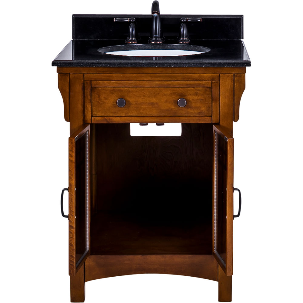 "27"" Westcott Wright vanity with top in Chestnut finish"