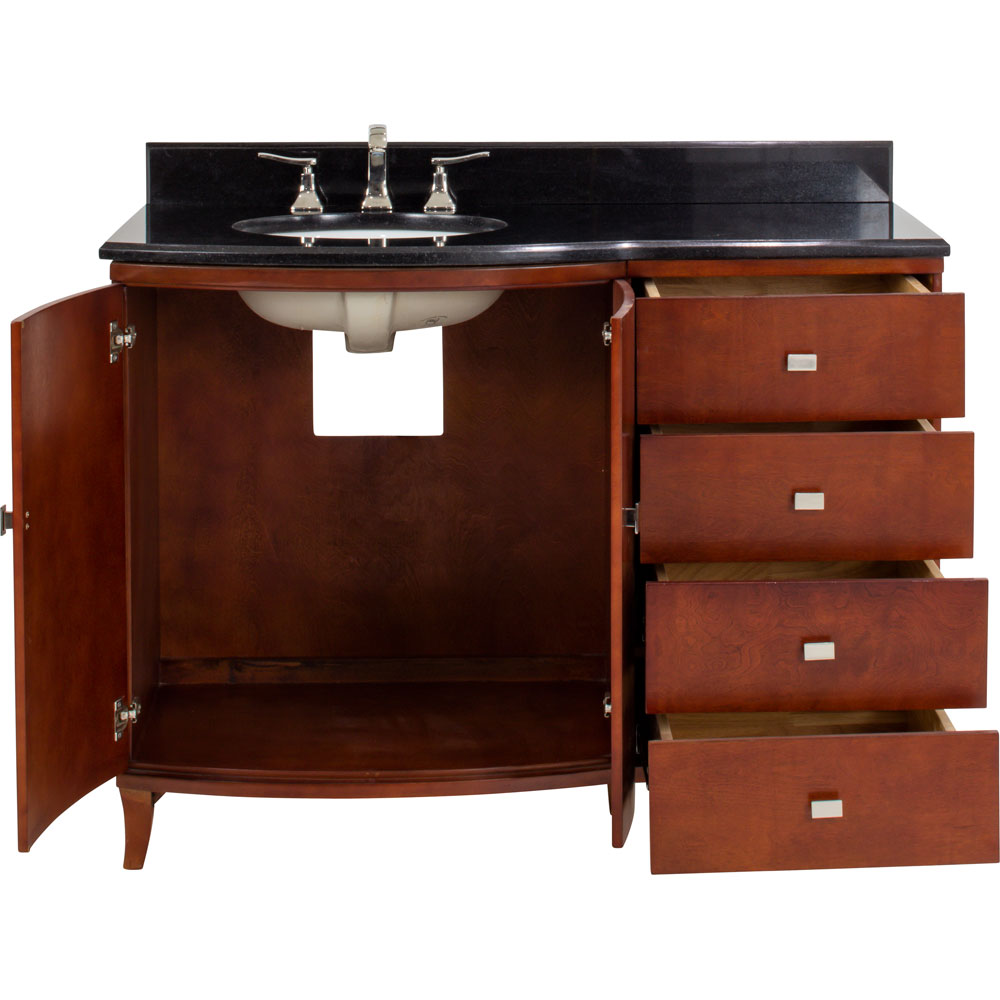 "48"" Mahogany Modern vanity with top"