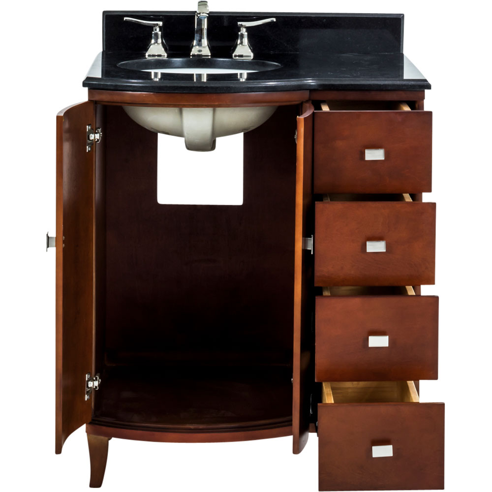 "30"" Mahogany Modern vanity with top"