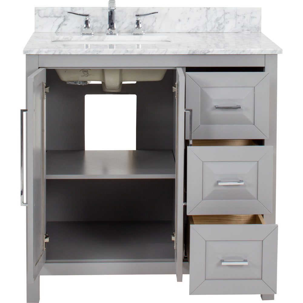 "36"" Cade Contempo vanity in Grey"